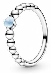 Stříbrný prsten pro ženy narozené v prosinci 198867C07