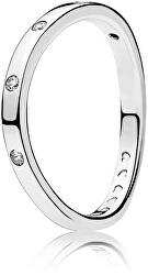 Stříbrný prsten s třpytivými kamínky 197113CZ