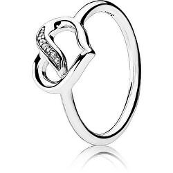 Stříbrný prsten se srdíčkem 191022CZ