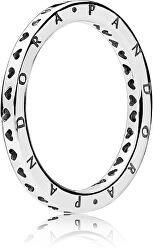 Stříbrný prsten se srdíčky 197133