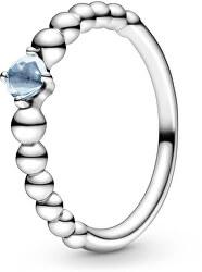 Stříbrný prsten pro ženy narozené v březnu 198867C01
