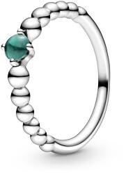 Stříbrný prsten pro ženy narozené v květnu 198867C05