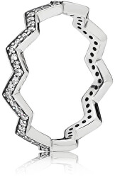 Stílusos ezüst gyűrű 197751CZ