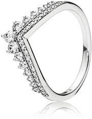 Stylový stříbrný prsten s třpytivými kamínky 197736CZ