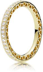 Třpytivý pozlacený prsten Shine 168655C01