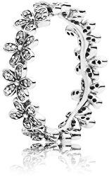 Třpytivý sedmikráskový prsten 190934CZ