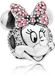 Třpytivý stříbrný klip Disney Minnie 797496CZS