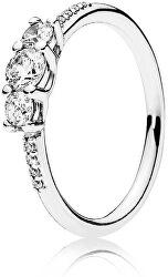 Třpytivý stříbrný prsten 196242CZ