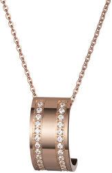 Bronzový náhrdelník Mia s čirými krystaly 7224P00L