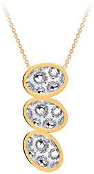 Dlhý oceľový náhrdelník s trblietavým príveskom Idared 7365Y00