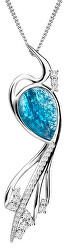 Elegantní náhrdelník Ines Matrix modrý 6109 29 (řetízek, přívěsek)