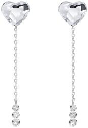 Elegantní stříbrné náušnice Srdce s českým křišťálem Preciosa With Love 6145 00