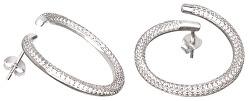 Fashion stříbrné náušnice s krystaly Finespun 5200 00