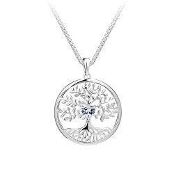 Krásny strieborný náhrdelník Strom života Sparkling Tree of Life 5329 00 (retiazka, prívesok)