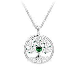 Krásny strieborný náhrdelník Strom života Sparkling Tree of Life 5329 66 (retiazka, prívesok)
