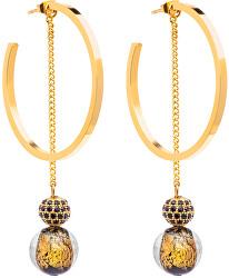 Luxusné náušnice s vinutými Perlou Ribes 7349Y21