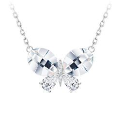 Půvabný stříbrný náhrdelník Devotion s českým křišťálem Preciosa 6147 00
