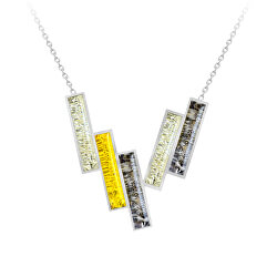 Nadčasový ocelový náhrdelník Desire s českým křišťálem Preciosa 7423 71