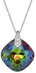 Náhrdelník Brilliant Rose s krystalem Vitrail Medium 6011 41 (řetízek, přívěsek)