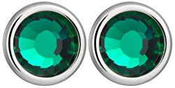 Náušnice Carlyn s kryštálom Emerald 7235 66