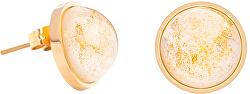 Náušnice pecky se zlatavými křišťály Mays 7356Y50