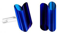 Oceľové manžetové gombíky s kryštálmi Neon Collection by Veronica 7307 70