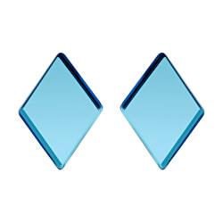 Ocelové náušnice Fragmentum s modrým kříšťálem 7375 67