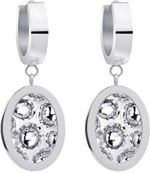 Ocelové náušnice s třpytivými krystaly Idared 7362 00