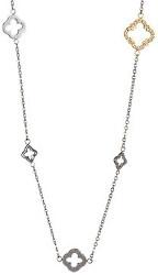 Oceľový náhrdelník Grandeur s čírymi kryštálmi 7242Y00