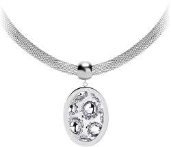 Ocelový náhrdelník s třpytivým přívěskem Idared 7360 00