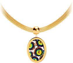 Ocelový náhrdelník s třpytivým přívěskem Idared 7360Y41