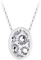 Oceľový náhrdelník s trblietavým príveskom Idared 7361 00