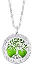Ocelový náhrdelník se zirkony Perfumed Tree of Life 7301 00