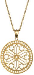 Pozlacený náhrdelník s krystaly Rosette 7238Y00