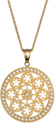 Pozlacený náhrdelník s krystaly Rosette 7239P00