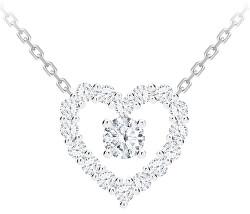 Romantický strieborný náhrdelník First Love s kubickou zirkónia Preciosa 5302 00