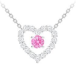 Romantický stříbrný náhrdelník First Love s kubickou zirkonií Preciosa 5302 69