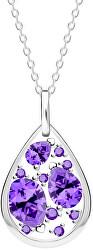 Smyslný stříbrný náhrdelník Lyra Violet 5263 56 (řetízek, přívěsek)