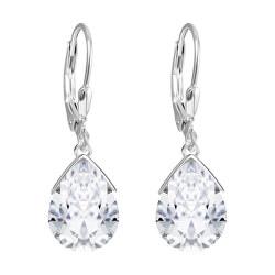 Stříbrné náušnice s krystalem Clematis 5289 00