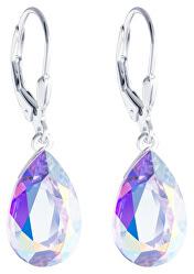 Stříbrné náušnice s krystalem Iris 6079 42