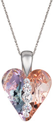 Stříbrný náhrdelník Love Heart 6873 70 (řetízek, přívěsek)