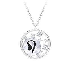 Strieborný náhrdelník s českým krištáľom Lev Sparkling Zodiac 6150 88 (retiazka, prívesok)