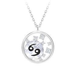 Strieborný náhrdelník s českým krištáľom Rak Sparkling Zodiac 6150 87 (retiazka, prívesok)
