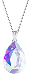 Stříbrný náhrdelník s krystalem Iris 6078 42 (řetízek, přívěsek)
