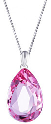 Stříbrný náhrdelník s krystalem Iris 6078 69 (řetízek, přívěsek)