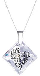 Stříbrný náhrdelník s krystalem Libi 6061 00 (řetízek, přívěsek)