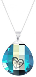 Stříbrný náhrdelník s krystalem Lovella 6067 51 (řetízek, přívěsek)