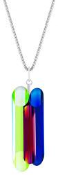 Stříbrný náhrdelník s krystaly Neon Collection by Veronica 6074 70 (řetízek, přívěsek)