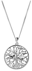 Stříbrný náhrdelník s krystaly Tree of Life 6072 00 (řetízek, přívěsek)
