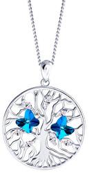 Strieborný náhrdelník s kryštálmi Tree of Life 6072 46 (retiazka, prívesok)